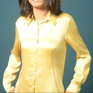 Marigold silk blouse